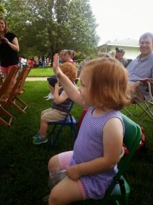 First parade, she was waving at everyone!